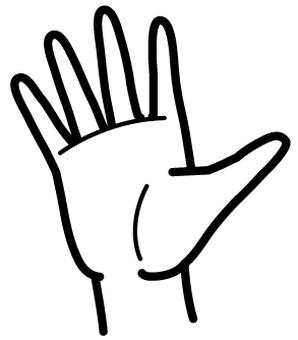 Hand line drawing 5