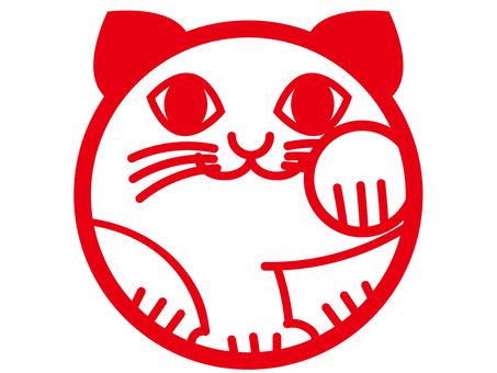 Imitative cat stamp
