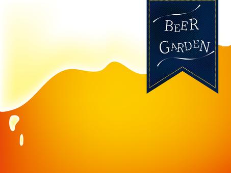 Beer garden notice material denim style label