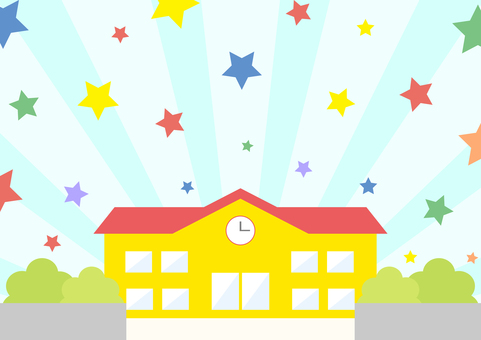 Kindergarten star concentrated line background