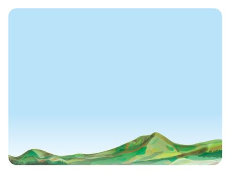 背景框架(28)夏天山