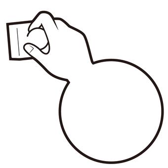 Hand sign ⑥