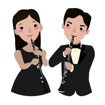 Oboe player and clarinet player