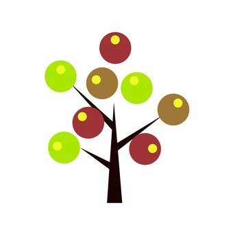 Scandinavian tree (brown, dot)