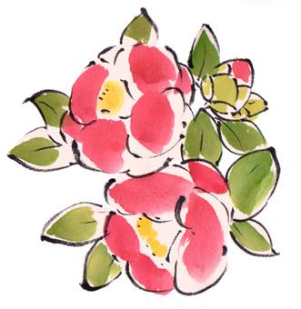"Tsubaki ""hand-painted material"""