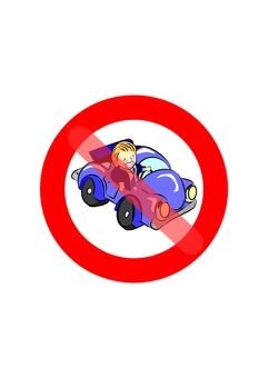 Drunk driving prohibition mark