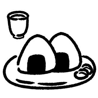 주먹밥과 차 ①