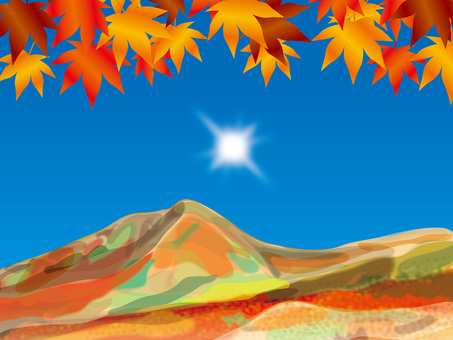The sun and the four seasons (12) Autumn leaves and mountains in autumn