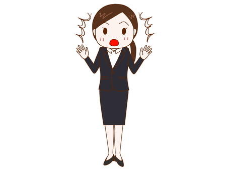 Surprised job hunting woman