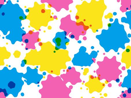 물보라 패턴 1 (색의 삼원색 · 투명)