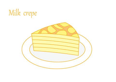 Milk crepe