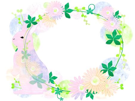 Rabbit · Flower Frame _ Frame