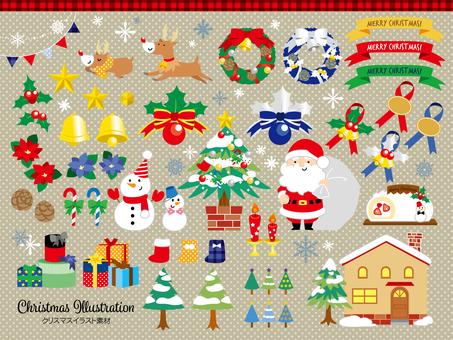 Christmas illustration material 01