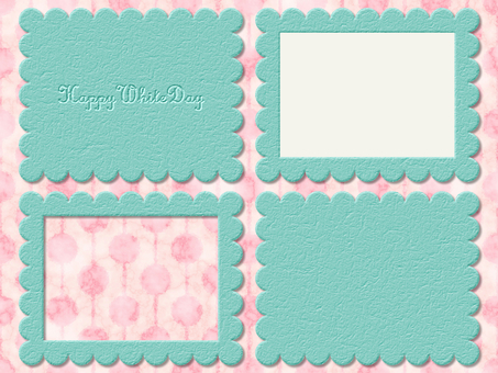 White Day Leather Card Mint Leather