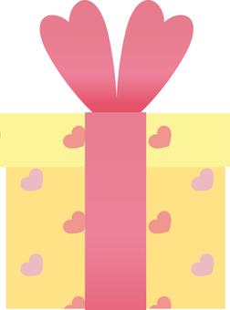 Heart pattern gift BOX (Yellow)