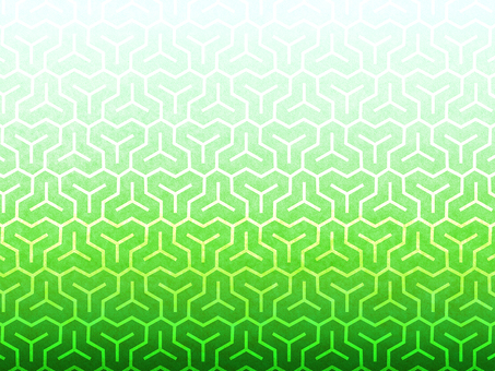 Bishamon tortoise pattern background on green paper