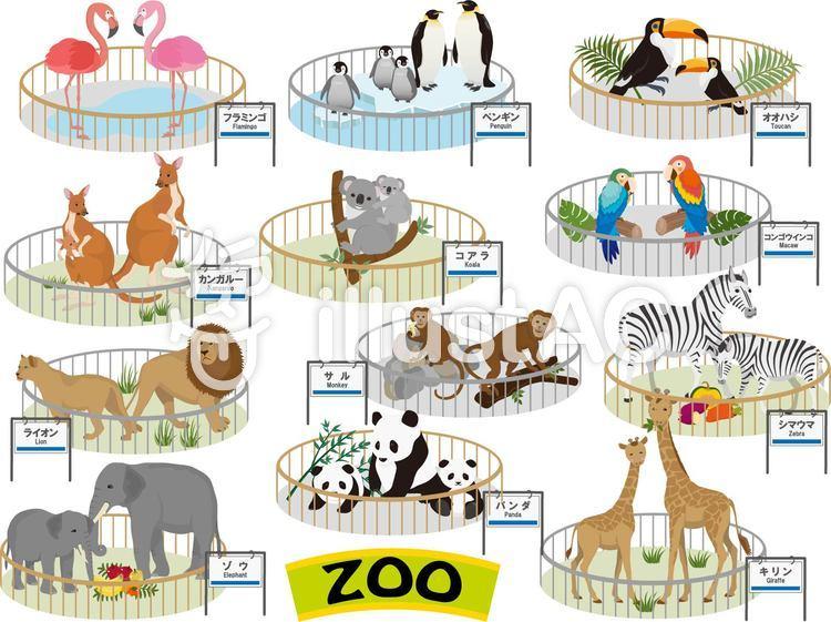 動物園 看板のイラスト