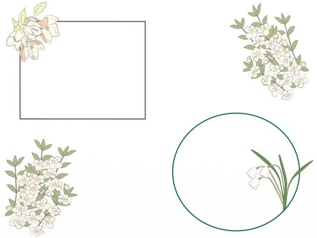 Cute flower frame telling spring