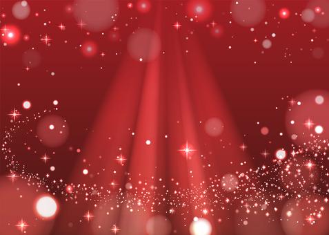 キラキラ背景 赤・ダウンライト