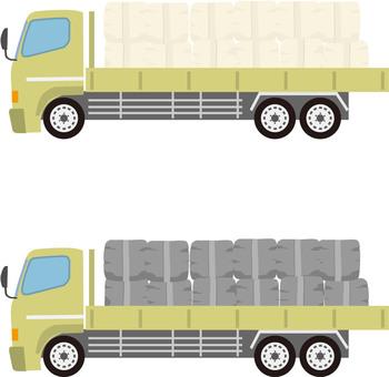 土嚢運搬トラック
