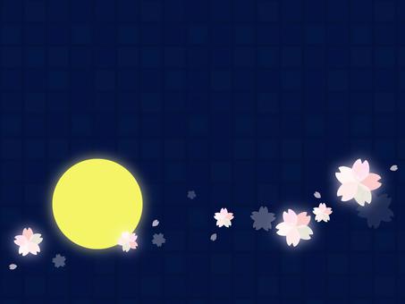 Background material 18 night cherry tree
