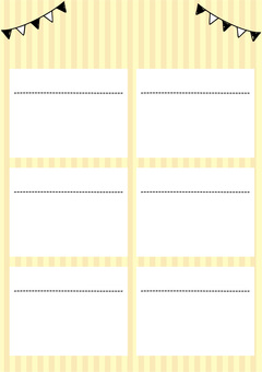 Yellow striped frame (vertical)