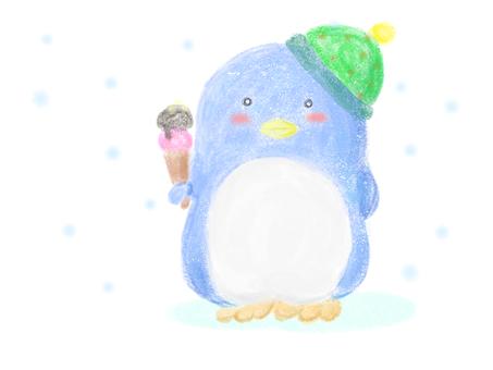 企鵝舉行冰