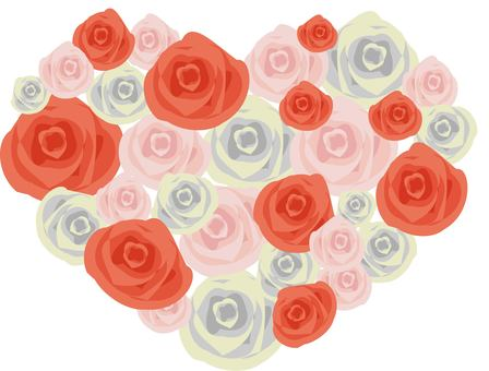 Heart shaped rose material