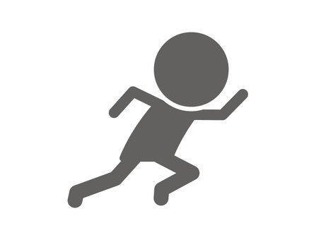 Stickman pictogram _ dash