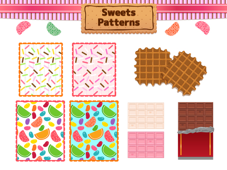 Sweets pattern set