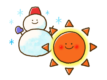 (Weather) sunny and sometimes snow