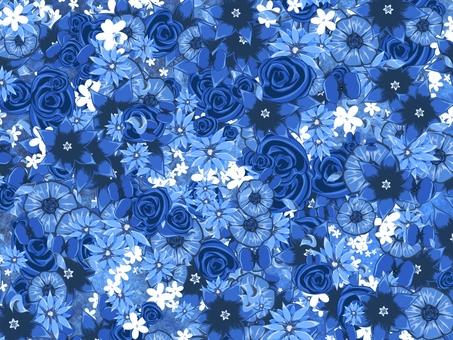 Flower full bloom background_Blue