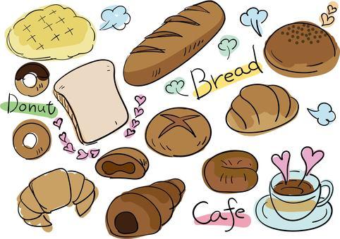 Food set (bread)