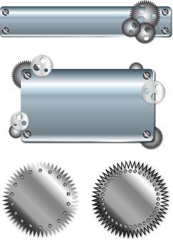 Spiral iron frame set 1