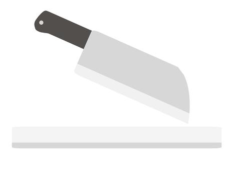 菜刀和砧板