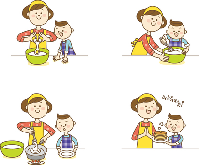 Parent and child cooking