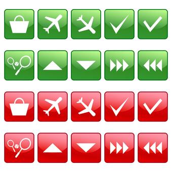 Airplane, tennis, check etc icons