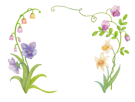 Flower frame of spring