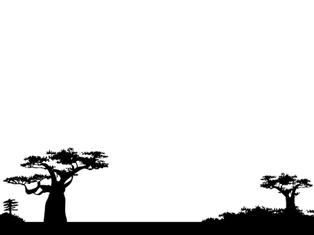 Cut Silhouette frame Baobab