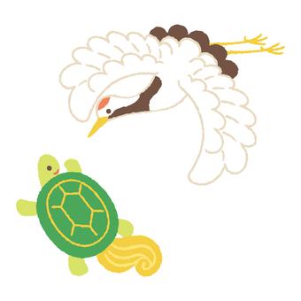 Crane and turtle 1