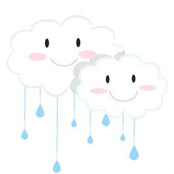 Rain clouds and rain