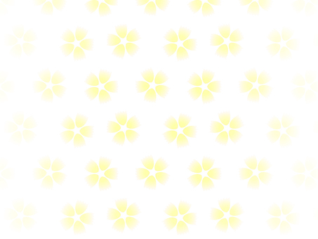 Yellow flower flower background on white background