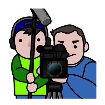Audio staff and shooting staff