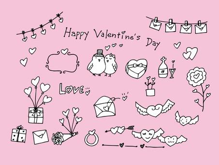 Valentine hand-painted