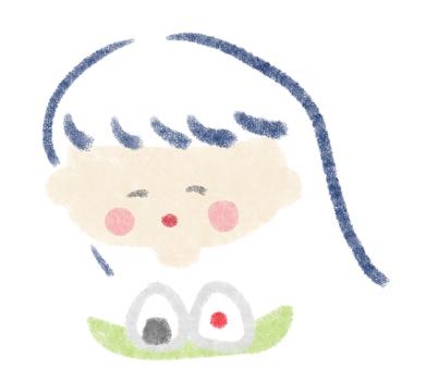 Onigiri and girl
