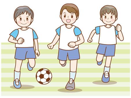サッカー少年ラインE