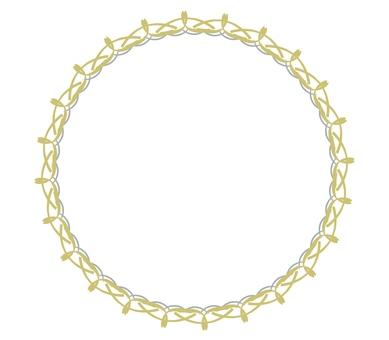 金色和銀色的圓形裝飾框架