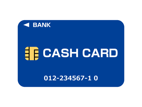 Cash card (bank card) Banded blue