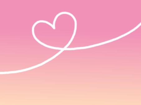 비행운 하트 핑크 그라데이션