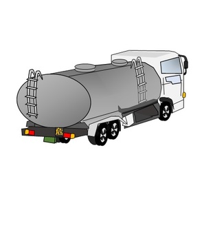 Tank lorry car rear part